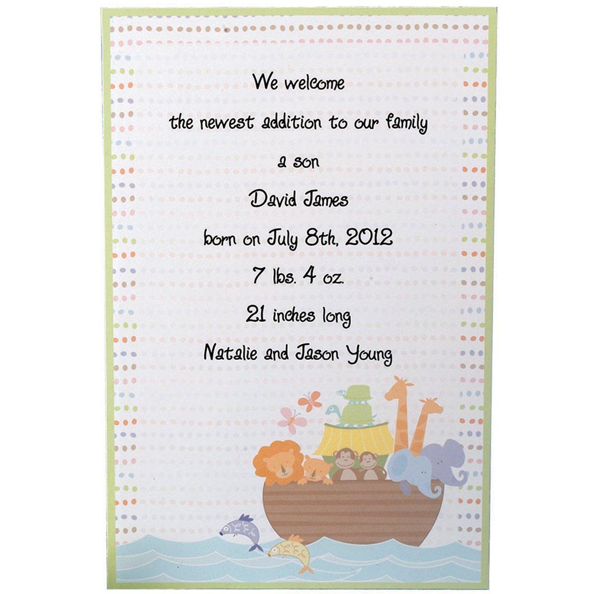 Invitation Kit Makes Makes Makes 12-Noah's Ark B002PNQYJG | Lebensecht  4e75f6