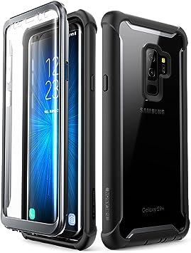i-Blason Coque Samsung S9 Plus, Coque Intégrale Anti-Choc avec Dos Transparent et Protecteur d'écran Intégré Série Ares [Résistant aux Rayures] pour ...