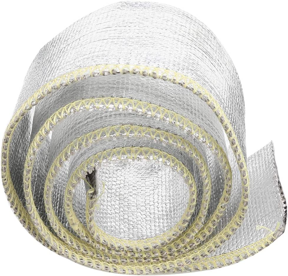3 Feet Length AC PERFORMANCE 1//2 Fuel Lines Lightweight Aluminum Fiberglass Heat Shield Sleeve Insulated Protection for Braided Hoses Cables or Electrical Wiring Heat Protection 12.7mm