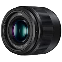 Panasonic LUMIX G Lens, 25mm, F1.7 ASPH, Mirrorless Micro Four Thirds, H-H025K (USA Black)