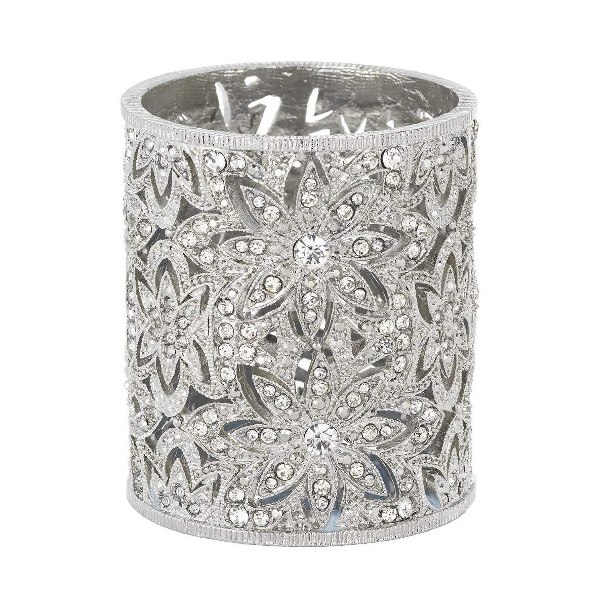 Olivia Riegel Crystal Windsor Tea Light Holder, Silver
