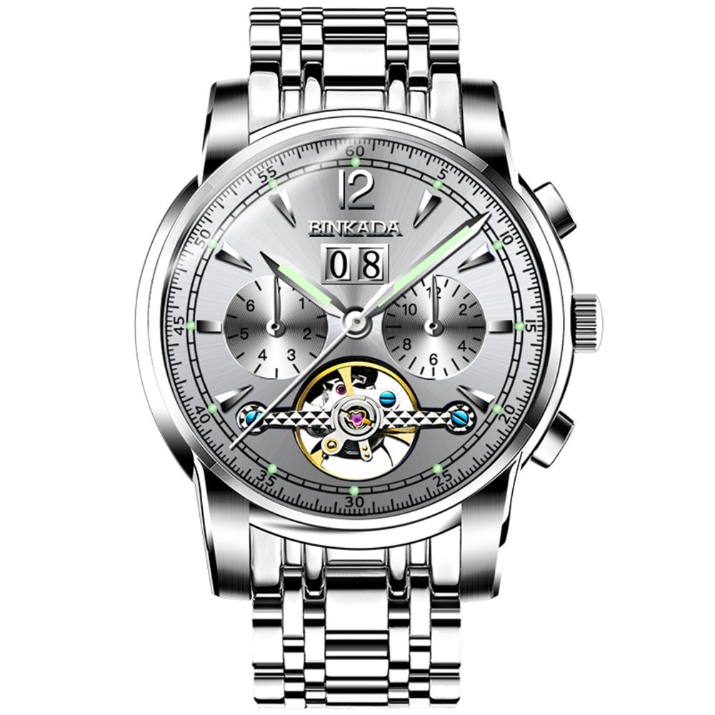 Automatic Mechanical Watches / Hollow Out Flywheel Watch /メンズ防水watch-a B06XCDH2H2