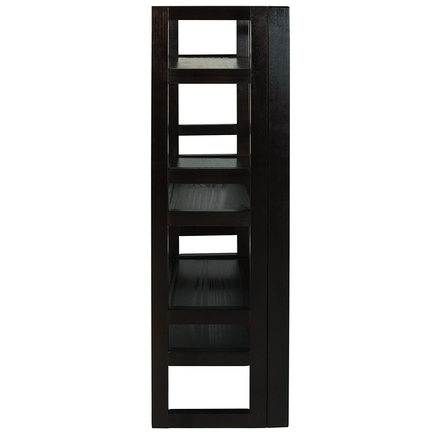 casual home 3 shelf folding student bookcase 20 75