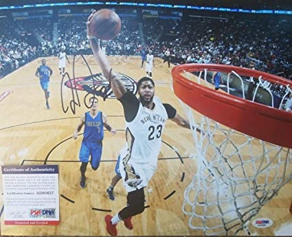 972e60bac4a Image Unavailable. Image not available for. Color  Duke New Orleans  Pelicans Anthony Davis Autographed Signed 11x14 Photo With PSA DNA ...