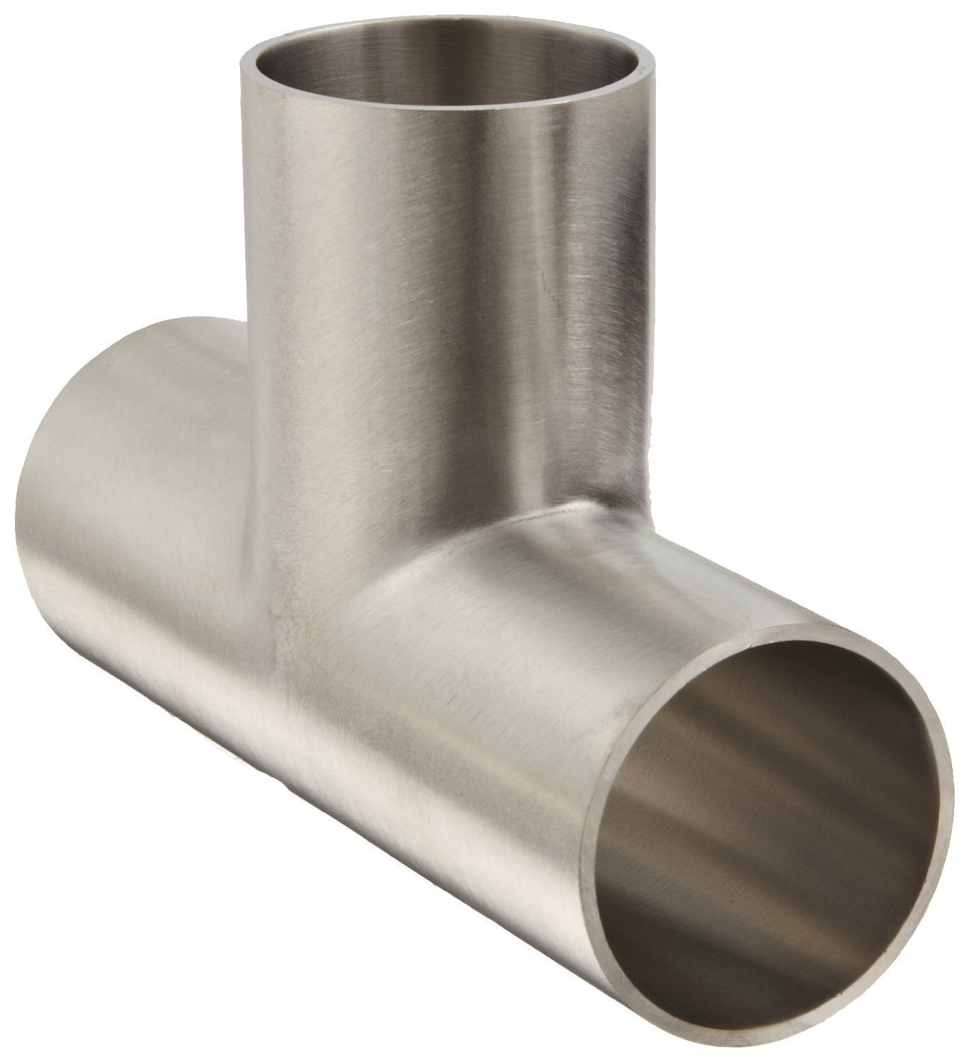 Dixon B7W-G150P Stainless Steel 304 Polished Fitting, Weld Long Tee, 1-1/2'' Tube OD