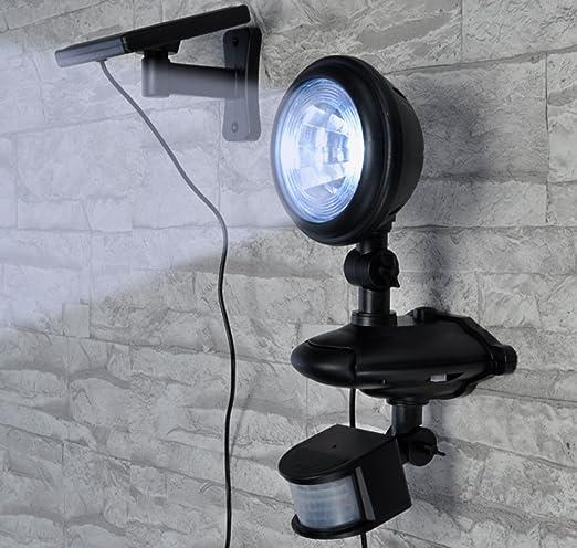 Reflector LED solar para exterior con sensor de movimiento