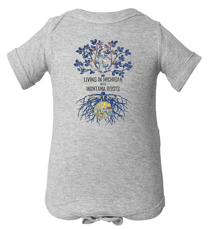 Tenacitee Babys Living in Michigan Montana Roots Shirt