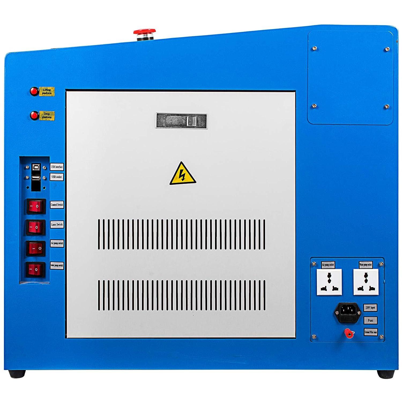 VEVOR 60w CO2 Laser Graviermaschine 500x700mm Laser Engraving Maschine USB Anschluss Schneiden 1000mm Pro Sekunde Gravierger/ät