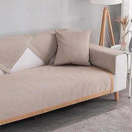 Liziyu Funda de sofá [Antideslizante] Couch Cover Algodón y ...