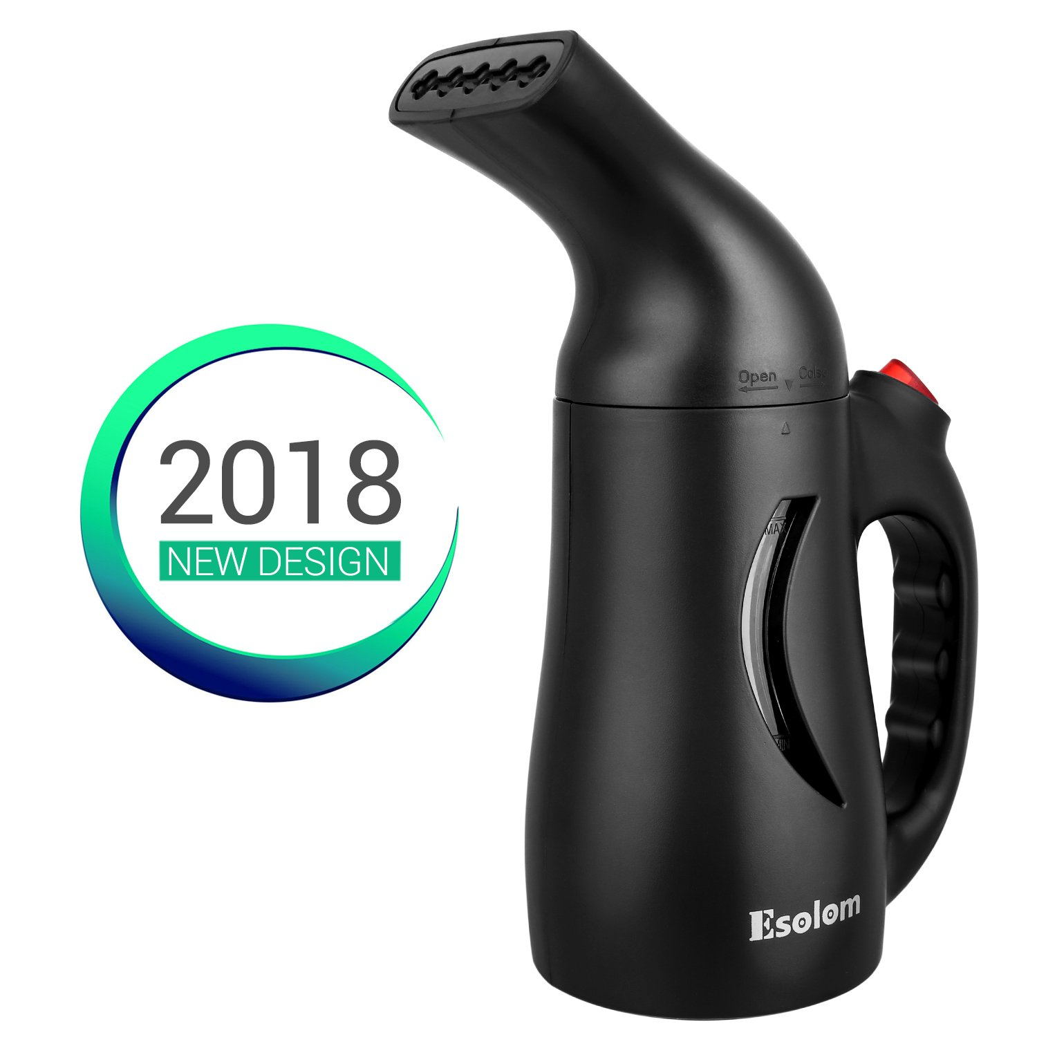 Handheld Clothes Steamer, ESOLOM Portable Travel Garment Steamer for Clothes Hand Steamer Wrinkle Remover with Automatic Shut-off and Fast Heat-up Function Safe Use for Travel and Home, 130ml-Black