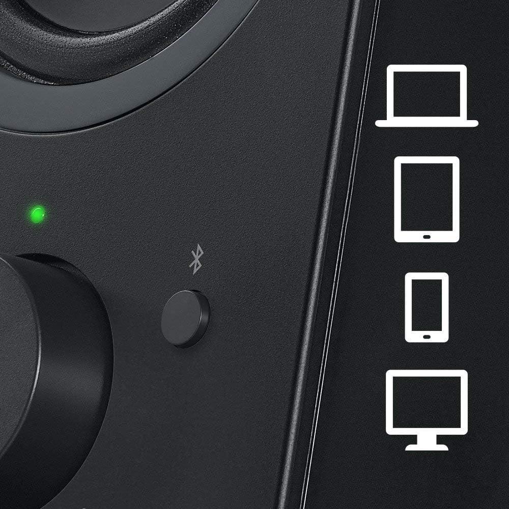 One Size Logitech 980-000402-cr Z623 400 Watt Home Speaker System Black 2.1 Speaker System Certified Refurbished