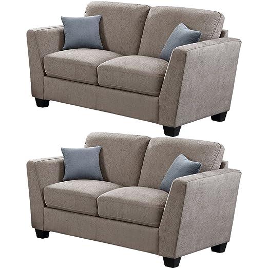 Tela de Chenille sofá gris Amington colección con asientos ...