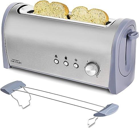 Cecotec Tostadora Acero Steel&Toast 1L. 6 Niveles de