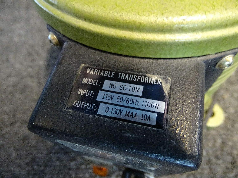 Variable Transformer Variac Model No SC-10M Input 115v 50//60Hz 1100w Out 0-130v