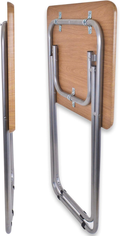 Apollo Small Folding TV Dinner Table With Tubular Legs