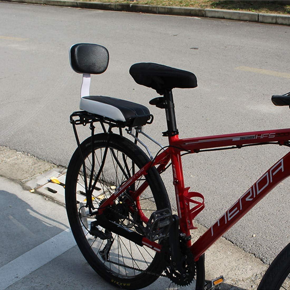 LIBRNTY Asiento Bicicleta Ni/ño,Coj/ín de Asiento Trasero de Bicicleta Respaldo reposapi/és para ni/ños Adultos,Accesorios para Bicicleta Kit de Bicicleta de Montaje a la Trasera coj/ín reposabrazos