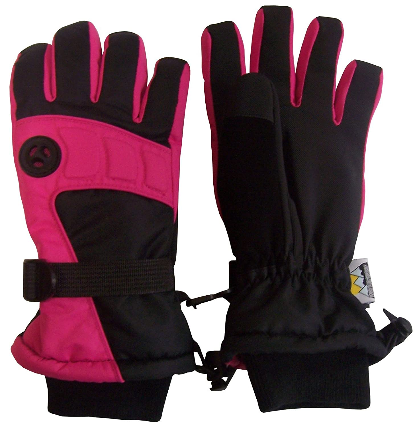 N'Ice Caps Kids Extreme Cold Weather Premier Colorblock Ski Glove with Air Hole 4929-FUBK-89