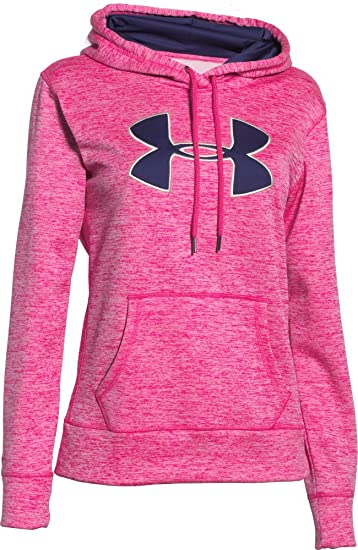 45ab6dfc7 Under Armour Women's Storm Armour Fleece Big Logo Twist Hoodie, Rebel Pink  (652)