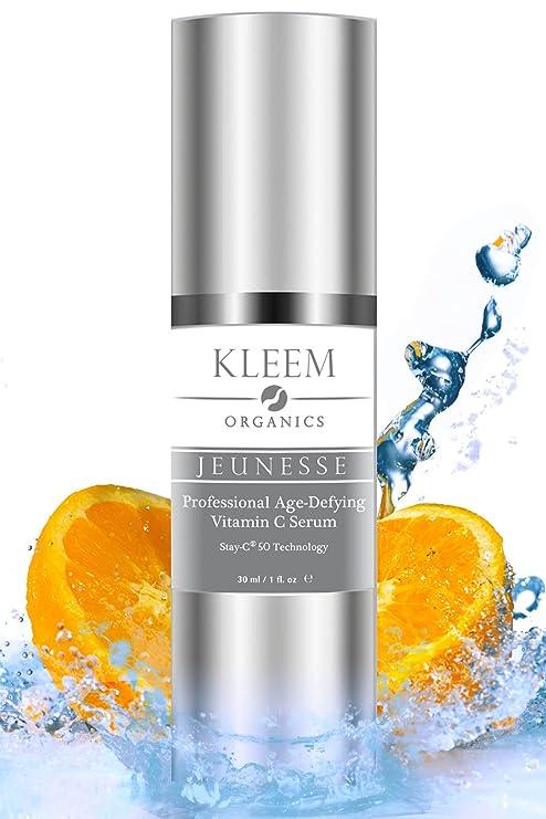 Kleem Organics® Sérum Anti-edad Para la Cara con Vitaminas Naturales C+E