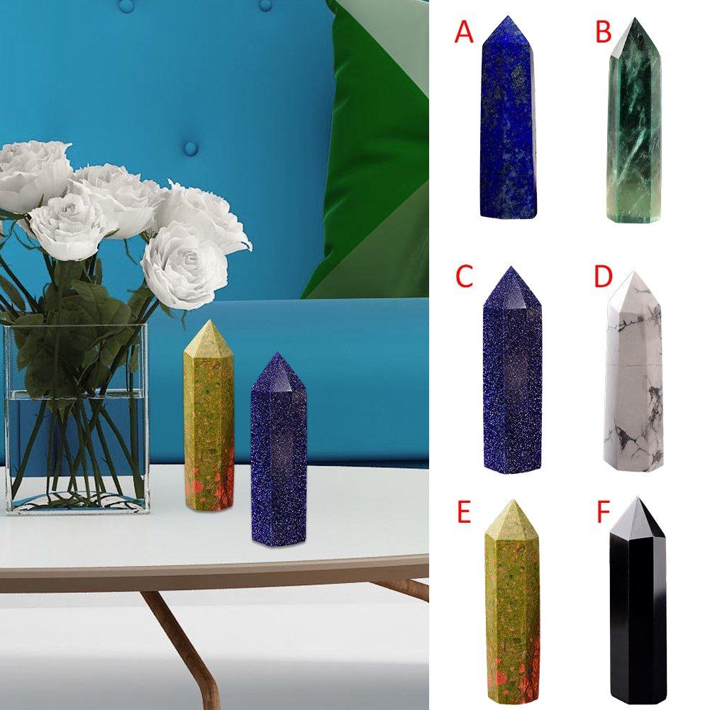 Type A 5.5-7.5CM Yunt cristallo naturale fluorite pietra di cristallo di quarzo punto guarigione esagonale bacchetta trattamento di pietra preziosa esagonale Raw decorazione 5.5/ /7.5/cm