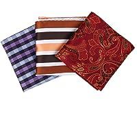 Dan Smith Multicolored Patterned Handkerchief Set Microfiber Comtemporary Gift
