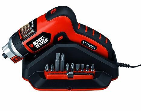 Black+Decker AS36LN Atornillador sin Cable, 3,6 V con AutoSelect y Soporte para Tornillos (3.6 W), 850 W, 3.6 V