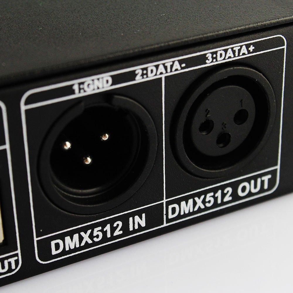 LEDJump DMX512 4A 3 Channels Decoder Controller Dimmer for RGB LED Light Strip DC12V-24V DMX 512 by LEDJUMP (Image #8)