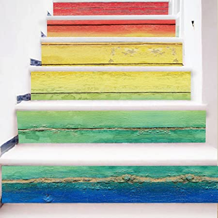 ALL Venta Caliente Nuevo Diseño Diy Pasos Adhesivo Removible Adhesivo Escalera Patrones De Azulejos De Cerámica Para La Decoración Del Hogar: Amazon.es: Hogar