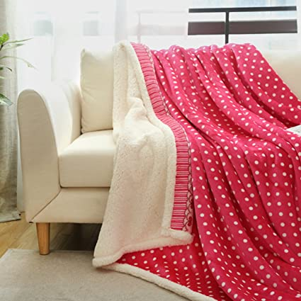 Amazon.com  HAPLL Soft Decorative Double Layer Berber Fleece Cozy ... ea3bcd7eb