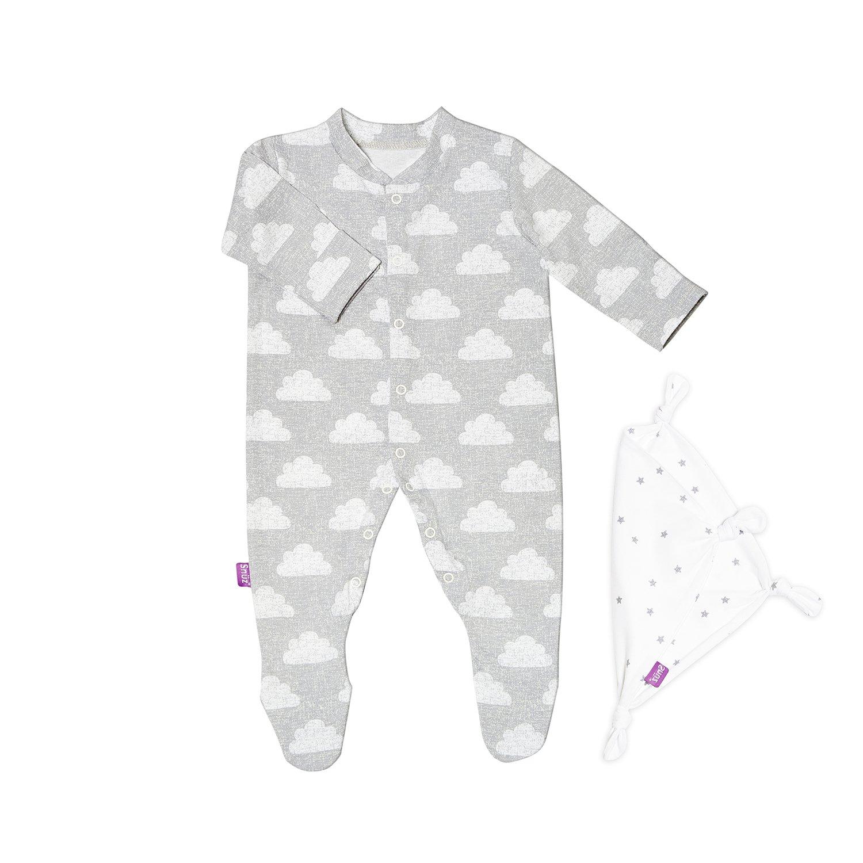 Snuz Baby Sleepsuit /& Comforter Gift Set 0-3m Cloud Nine