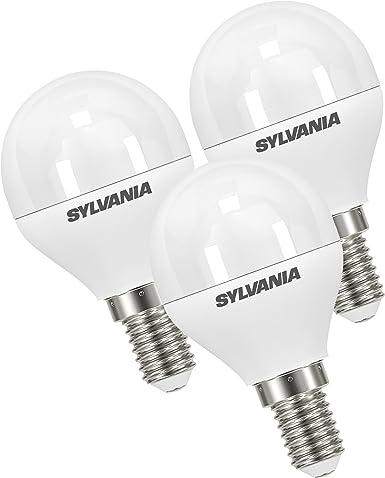 Sylvania syl0027882 – Juego de 3 bombillas LED, plástico, E14, 9 W,