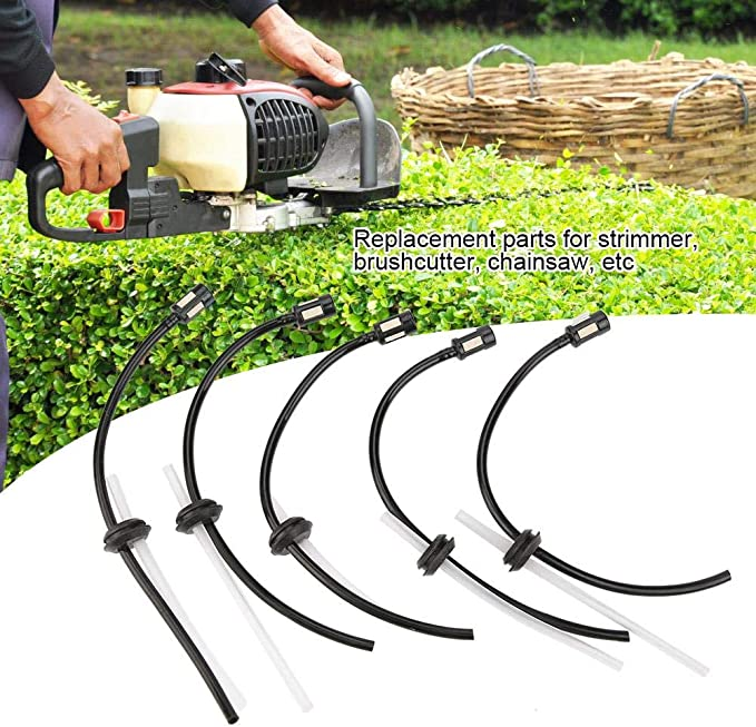 5pcs Fuel Hose Petrol Pipe Strimmer Chain Saw Brush Cutter Hedge Trimmer Parts