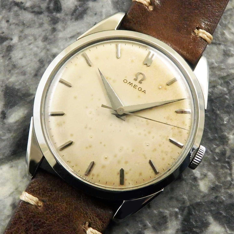 オメガ 30ミリキャリバー ドーフィンハンド 手巻き 1957年 アンティーク OMEGA 30mm 時計 [並行輸入品] B076MT8YKH