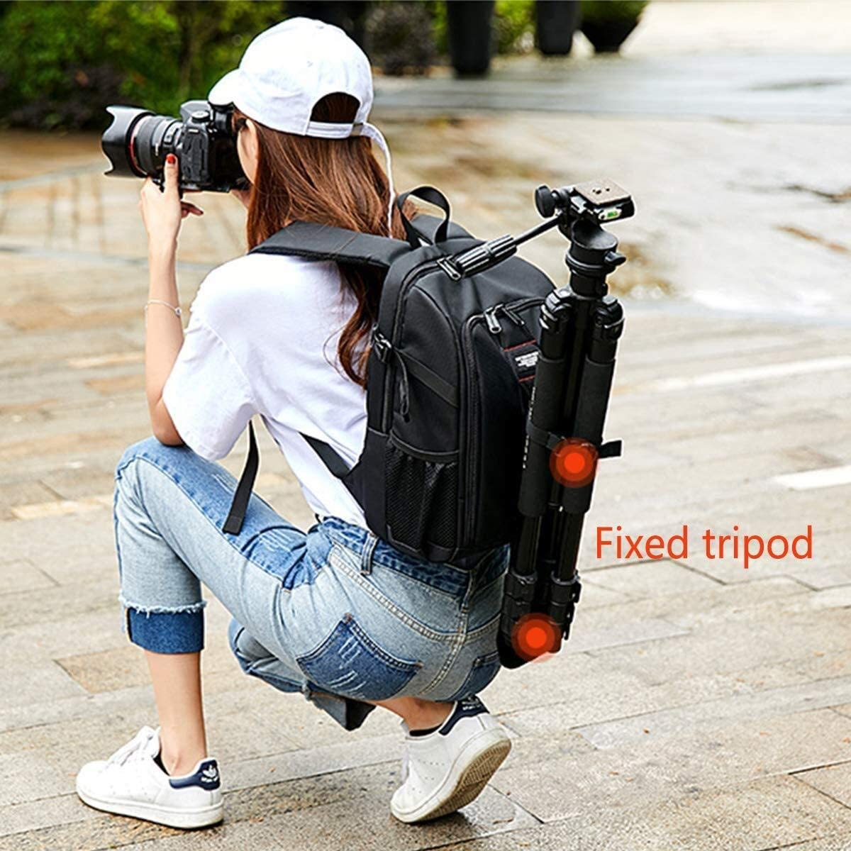 or Professional Shockproof Leisure Travel Bag Outdoor Camera Rucksack With Rain Cover For Laptop Tripod Lens And Accessories Outdoor camping folding bed Waterproof Large Capacity SLR Camera Backpack