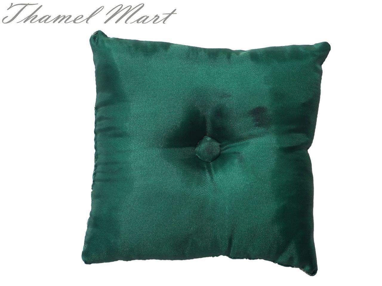 Tibetan Satin Singing Bowl Cushion (Green)