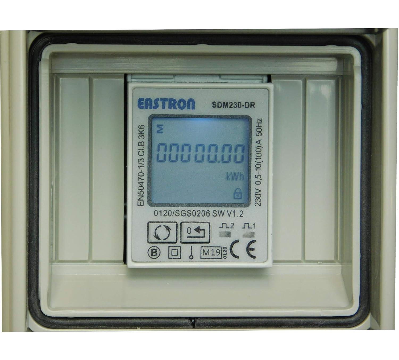 avec r/éinitialisation IP44 NWP 16A CEE Compteur /électrique num/érique portable calibr/é