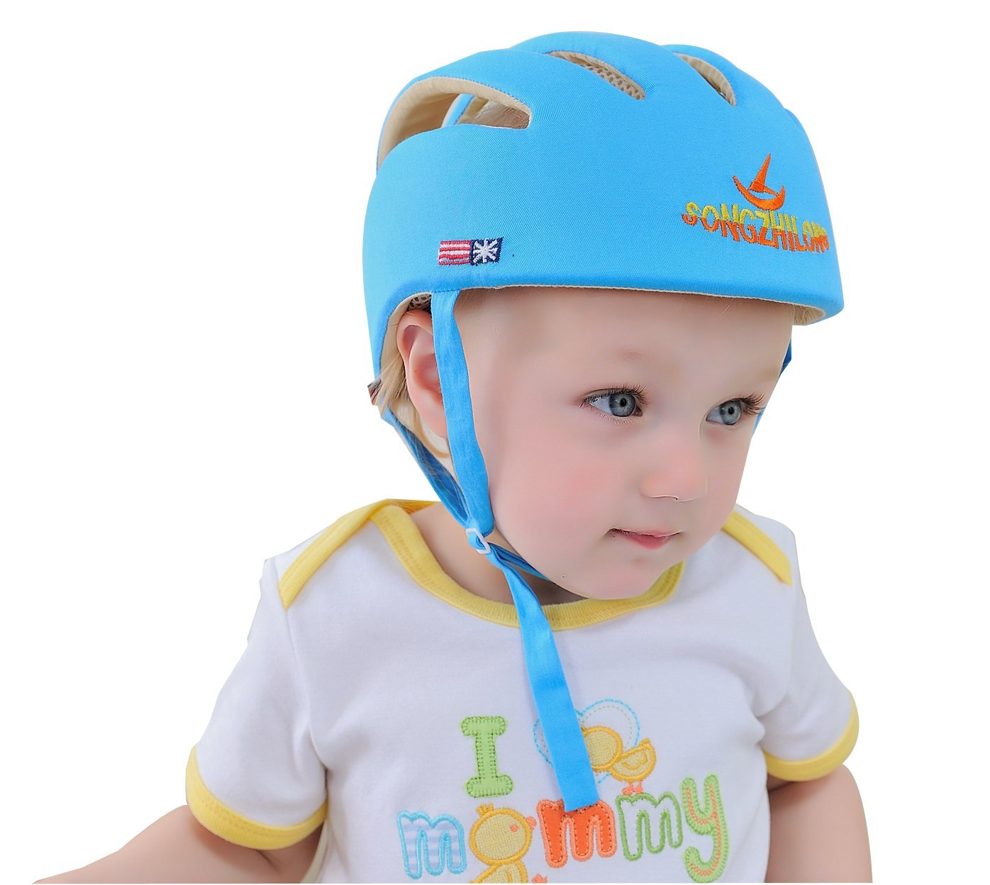 Huifen Baby Children Infant Toddler Adjustable Safety Helmet Headguard Protective Harnesses Cap Blue, Providing Safer Environment When Learning to Crawl Walk Playing Baby Infant Blue Hat (Blue) by Huifen (Image #8)