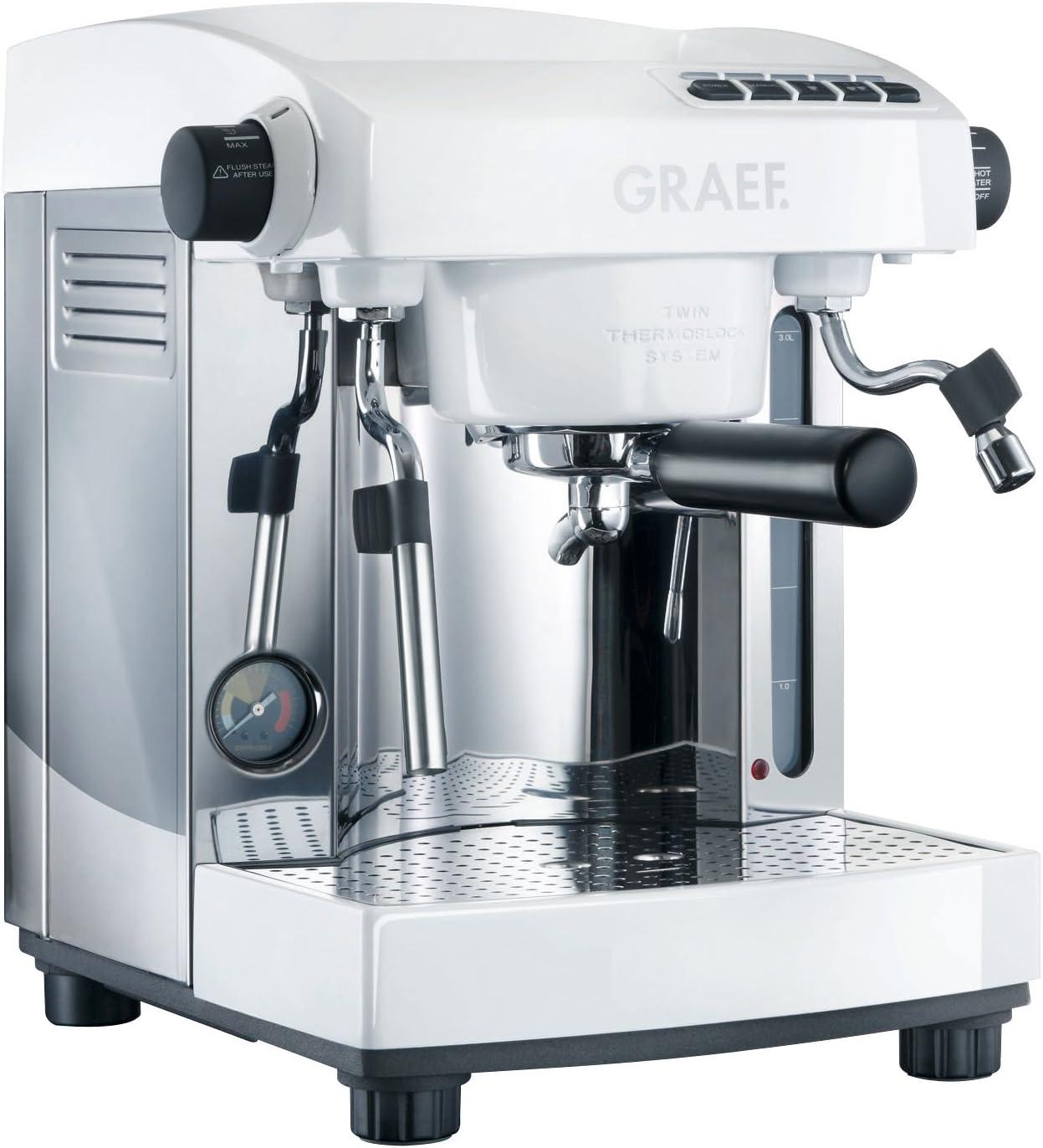 Graef ES91EU Cafetera Espresso, 220-240V, 2200-2400W, 50Hz, blanca: Amazon.es: Hogar
