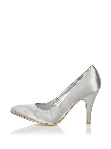 2aa6b13d139 Coconel Women s Court Shoes Silver Silver 5 UK  Amazon.co.uk  Shoes   Bags