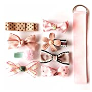 8pcs Baby Girls Hair Bows Grosgrain Ribbon Clips Barrettes for Teens Girls Babies Toddlers