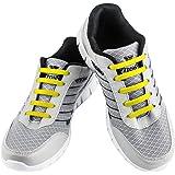 WELKOO® Cordones elásticos de silicona sin nudo impermeables para calzado de adulto e infantil - 16 & 12 pzas. Distintos…