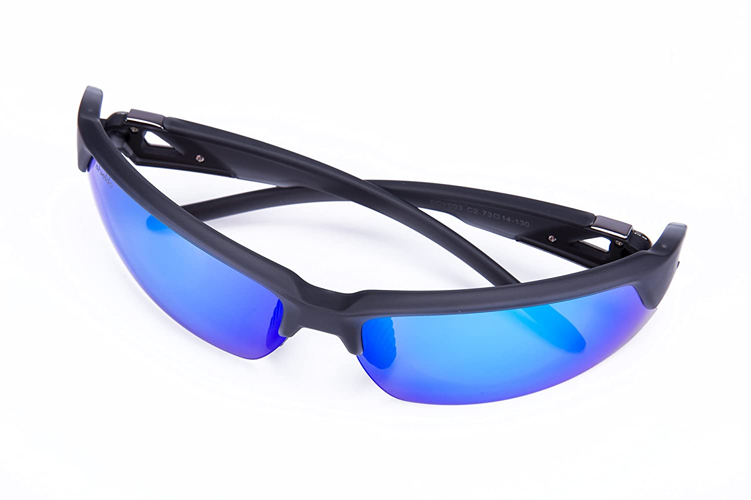 LVXING1 Shieldo Polarized Sports Sunglasses for Men and Women Running Cycling Fishing Mirrored Integrated Polarized Lens Unbreakable Frame SLY002-1