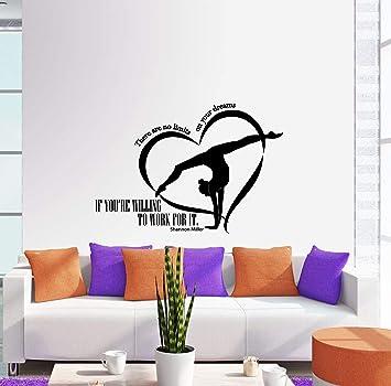 5 GYMNASTS vinyl wall art QUOTE sticker gymnastics dance sport