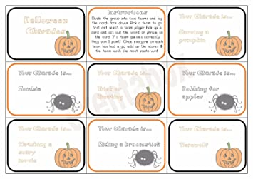 halloween charades party game children family activity spooky scary