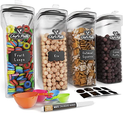 Cereal Container Storage Set - Airtight Food Storage Containers