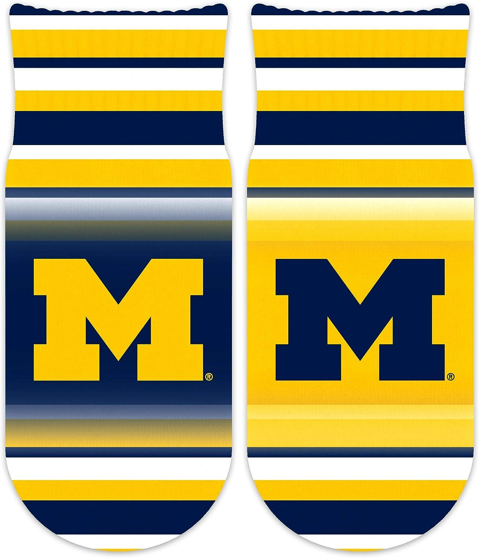 Wee Ones Collegiate Striped NCAA Mascot Kids Ankle Socks