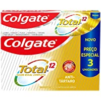 Creme Dental Colgate Total 12 Anti Tártaro 3 Unid 90G 3 Unid 90G Preço Especial, Colgate