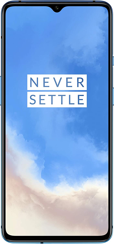 "OnePlus 7T Smartphone Glacier Blue | 6.55""/16,6 cm AMOLED Display 90Hz Power Screen | 8 GB RAM + 128 GB Storage | Triple Camera + Front-Camera | Warp Charge 30"