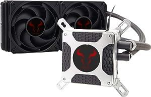 Liquid CPU Cooler, RIOTORO New Generation BiFrost AMD/Intel Platforms Water Cooling Fan with 240mm Radiator [TR-240]