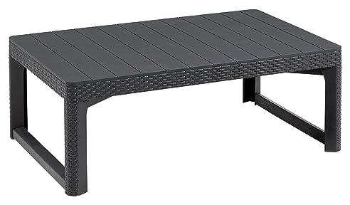 Allibert Lyon Tisch, Graphit, Polyrattan Tisch, Loungetisch